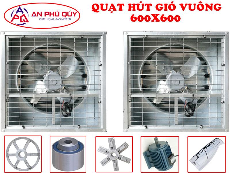 Quạt hút gió vuông công nghiệp SHRV 600x600