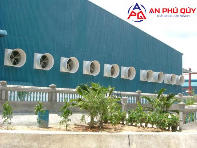Ứng dụng, ưu điểm quạt thông gió vuông Composite 1460x1460