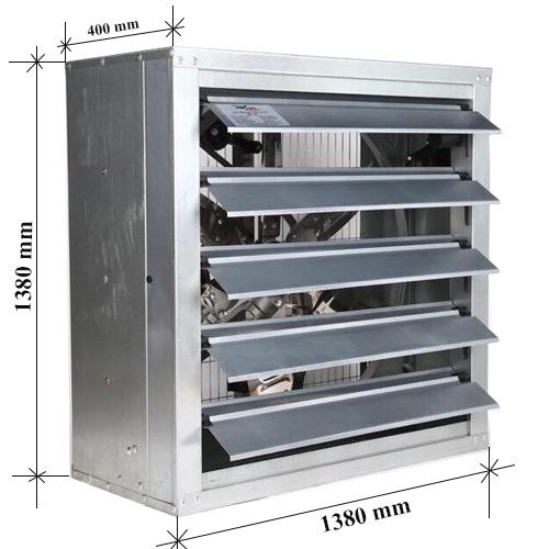 Quạt thông gió vuông công nghiệp 1380x1380