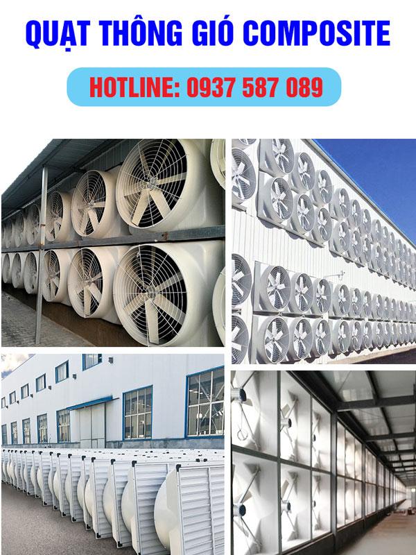 quạt thông gió công nghiệp Composite